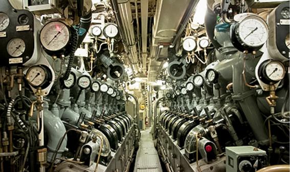 dieselmotor met meters